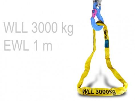 Rundschlinge - 1 m (WLL 3000 kg)