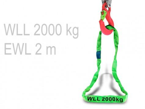Rundschlinge - 2 m (WLL 2000 kg)