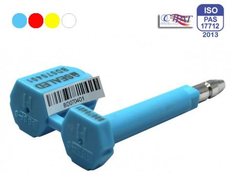 HS Containerplombe GRIZZLY© mit Nummernaufklebern für den Versand