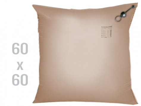 Kraftpapier-Stausack 1-lagig - 60 x 60 cm Standard Ventil