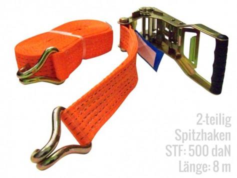 Ansicht Zurrgurte 2-teilig STF 500 LC 2500 Spitzhaken