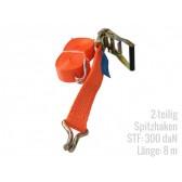 Zurrgurt 2-teilig 8 m Spitzhaken STF300 LC2500
