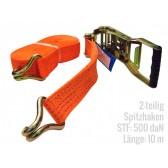 Zurrgurt 2-teilig 10 m Spitzhaken STF500 LC2500