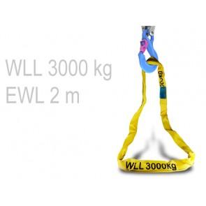 Rundschlinge - 2 m (WLL 3000 kg)