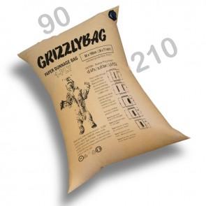 GrizzlyBag® Stausack 1-PLY Kraftpapier Schnellbefüllung - 90 x 210