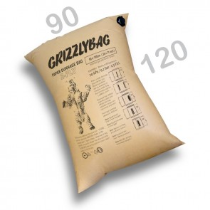 GrizzlyBag® Stausack 2-PLY Kraftpapier Schnellbefüllung - 90 x 120