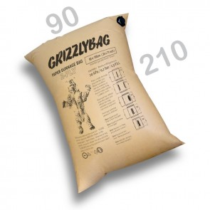 GrizzlyBag® Stausack 2-PLY Kraftpapier Schnellbefüllung - 90 x 210