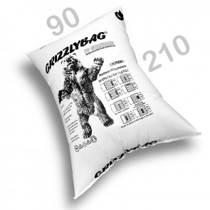 GrizzlyBag® Stausack STANDARD PP-Gewebe Schnellbefüllung - 90 x 210